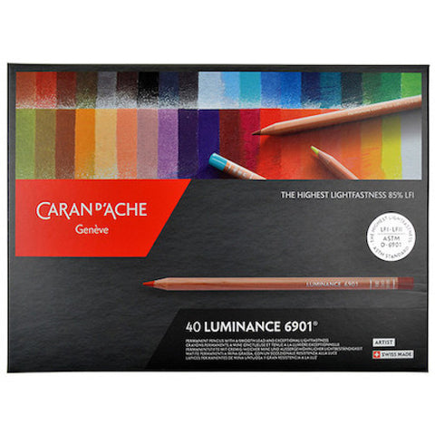 CARAN d'ACHE Luminance 6901 Colour Pencils - Set of 40