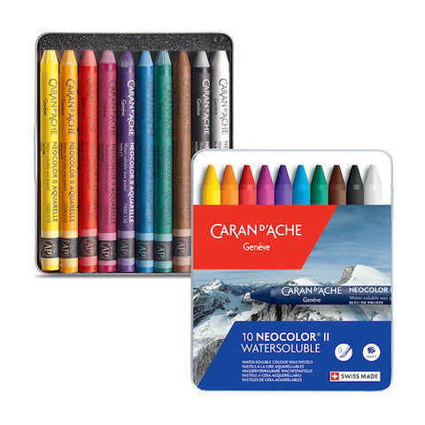 CARAN d'ACHE Neocolor II Watersoluble Wax Pastels - Set of 10