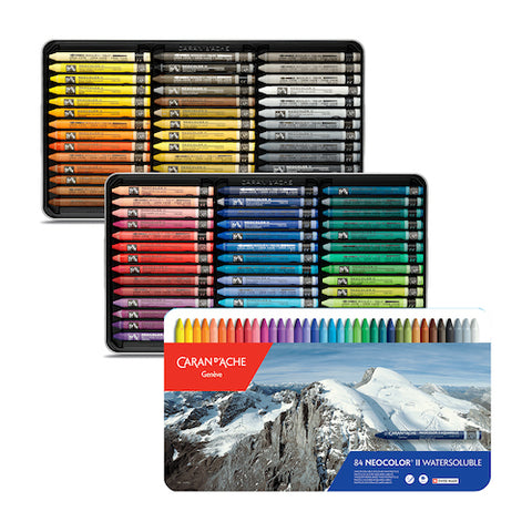 CARAN d'ACHE Neocolor II Watersoluble Wax Pastels - Set of 84