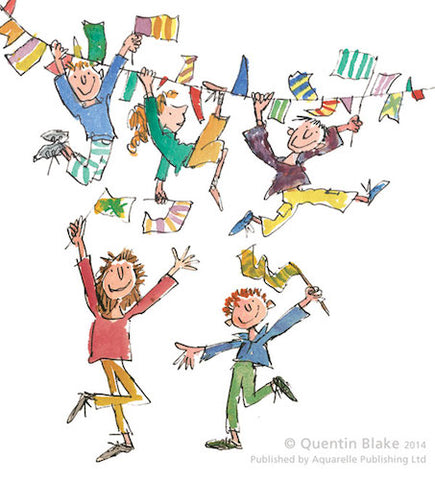 QUENTIN BLAKE - Signed Limited Edition Print - Celebration