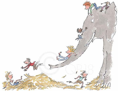 QUENTIN BLAKE - Collector's Limited Edition - It's Large and Grey