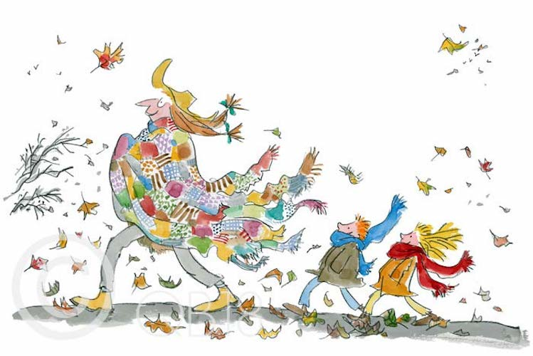 QUENTIN BLAKE - Collector's Limited Edition - Her Ragged Patchwork Cloak