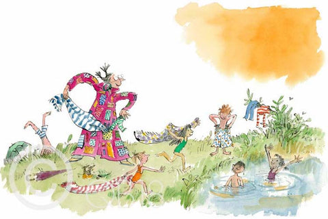 QUENTIN BLAKE - Collector's Limited Edition - Her Overcoat Has Pockets