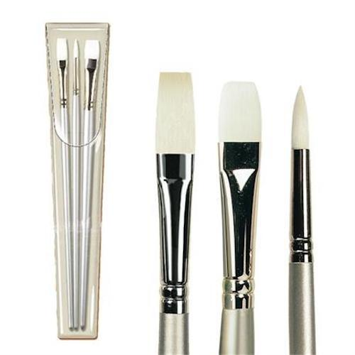PRO ARTE Sterling Acyrlic Painting Brush Set - Three Brushes - W6