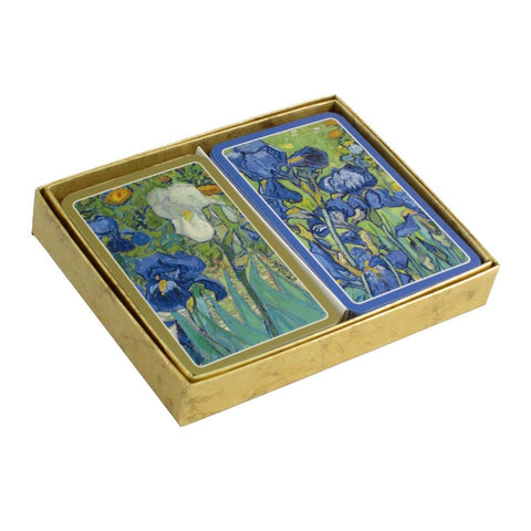 CASPARI Twin Pack of Playing Cards - Van Gogh Irises