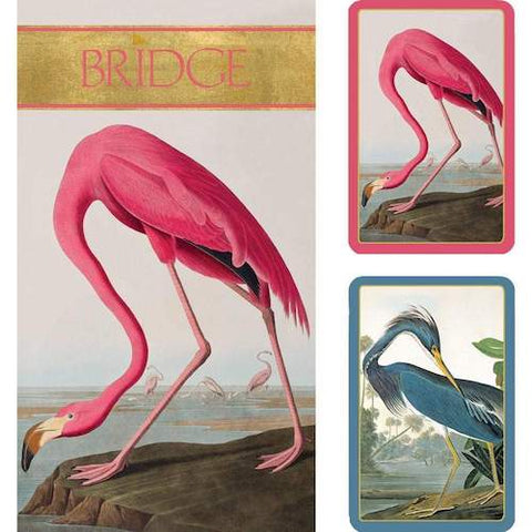 CASPARI Bridge Set with Scorepads - Audubon