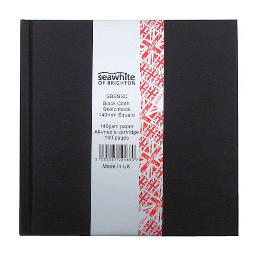 SEAWHITE Chunky Square Sketchbook 140 gsm - 95 Pages - 140mm by 140mm