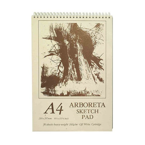 ARBORETA SPIRAL OFF WHITE SKETCH PAD - A4