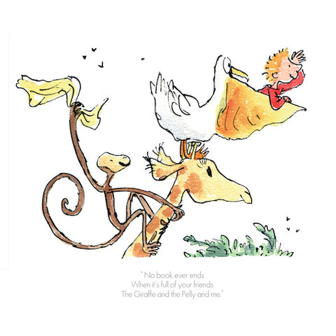 ROALD DAHL - Collector's Limited Edition - Giraffe Pelly and Me - No Book Ever Ends