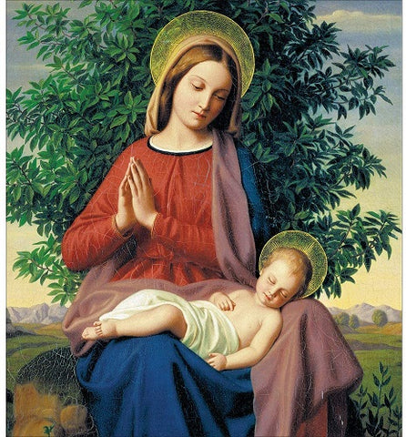 Charity Christmas Cards - Pack of 5 - by Julius von Carolsfeld - Madonna & Child