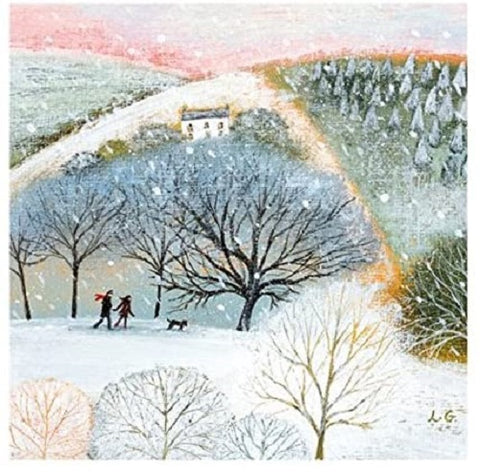 Christmas Cards - Pack of 8 by Lucy Grossmith - Winter Walkers