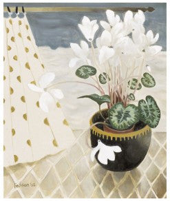 "Limited Edition Signed Print Mary Fedden ""White Cyclamen"""