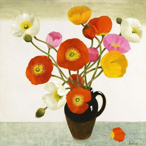 "Limited Edition Signed Print Mary Fedden ""Poppies"""