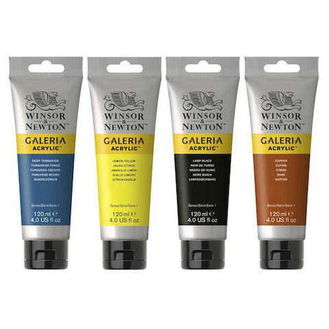 Winsor and Newton Galeria Acrylic Paints - 120ml Tubes