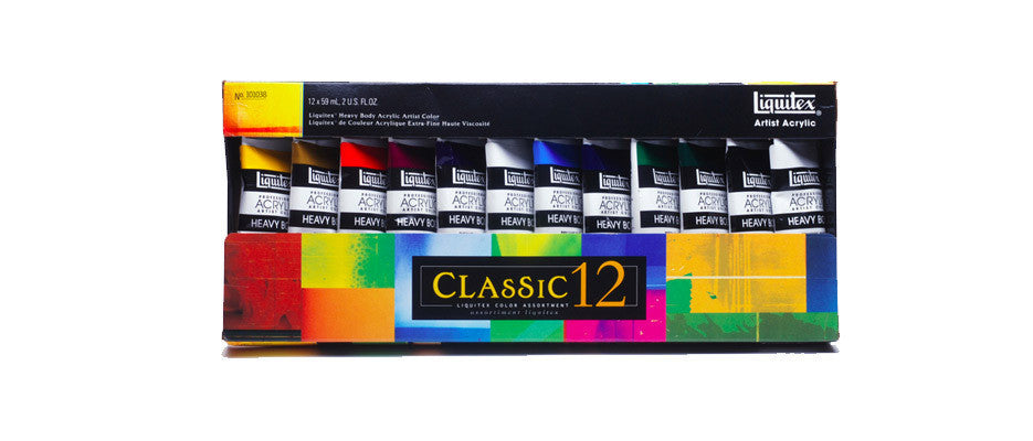 Liquitex Heavy Body Artists Acrylic Classic Set 12x59ml
