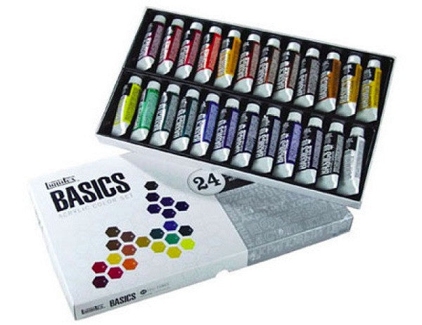 Liquitex Acrylics Basics Sets - 24 and 36 Tubes