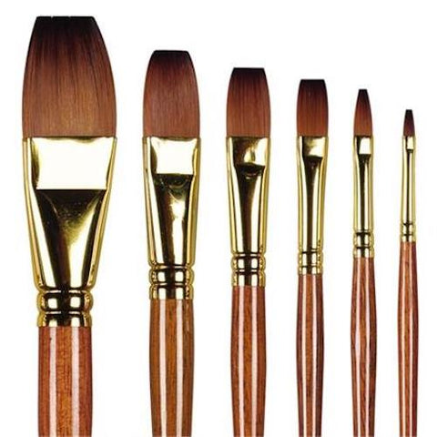 Pro Arte Series 008 Prolene Plus One Stroke Brush Full Range