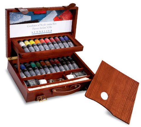 Sennelier Artist Oil Painting Wooden Box 22 x 40ml Tubes