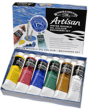 Winsor & Newton Artisan Water Mixable Oil Paints - Beginners Set 6 x 37ml