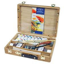 Winsor & Newton Artists Oil Painting Bamboo Wooden Box Set