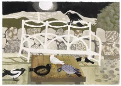 "Limited Edition Signed Print Mary Fedden ""The Garden Bench"""