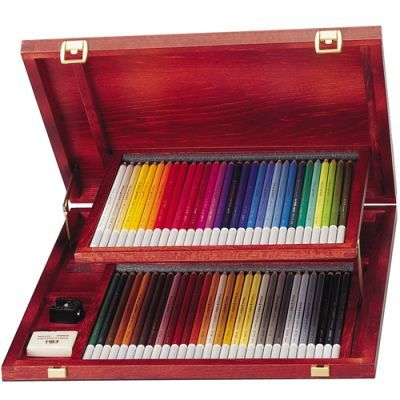 Stabilo Carbothello Chalk-Pastel Pencils Wooden Box 60