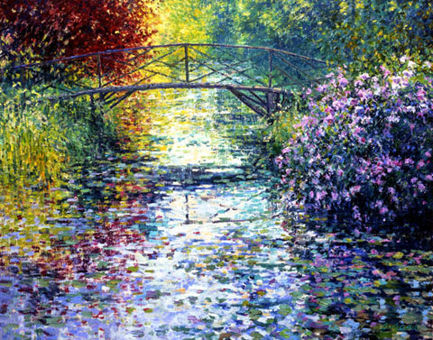 Charles Neal - The Japanese Bridge, Byfleet Manor