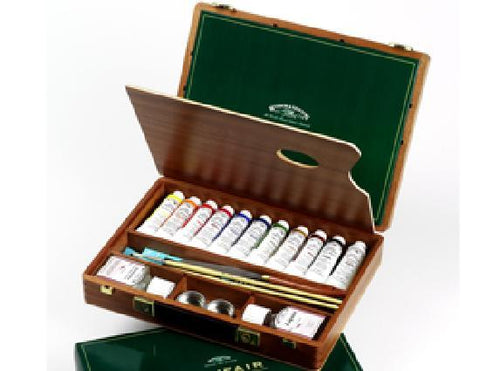 Winsor and Newton Artist Oil Mayfair Wooden Box