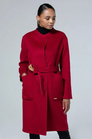 Women's Cashmere Double-Sided Coat Tibetan Red -  Gobi Cashmere