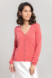 V-Neck Button Cardigan