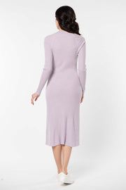 Women's Cashmere Flare Hem Dress Orchid Ice - Gobi Cashmere
