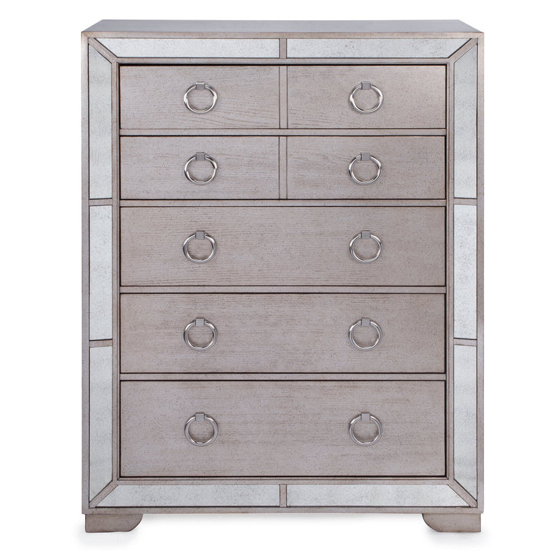 Ava 5 Drawer Mirrored Chest