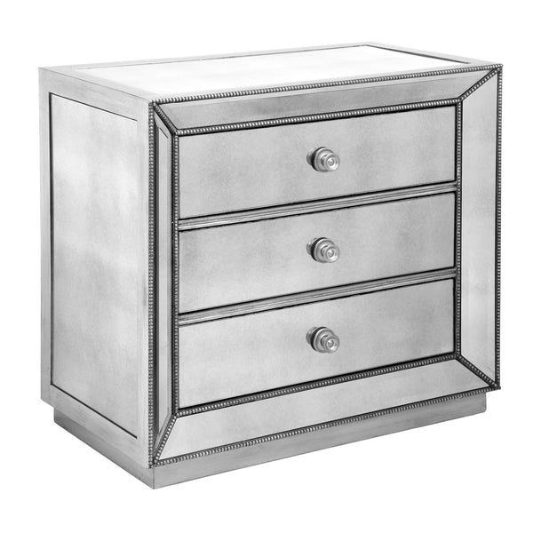 Omni Mirrored 3 Drawer Nightstand