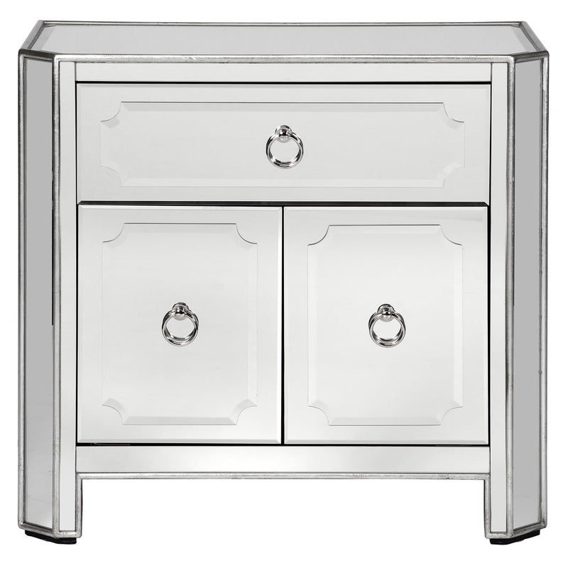 Simplicity Mirrored Nightstand