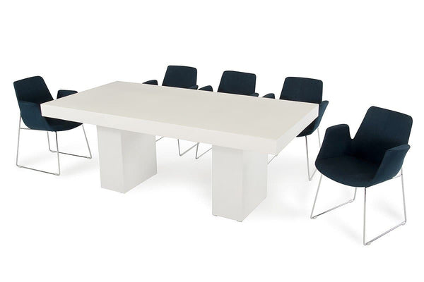 Modrest Saber Modern Ivory Concrete Dining Table