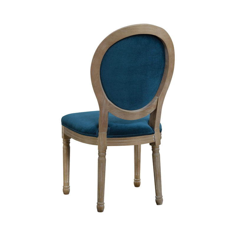 Rhea Oval Back Dining Chairs Peacock (Set Of 2)