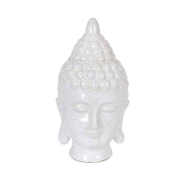 White Ceramic Buddha Head