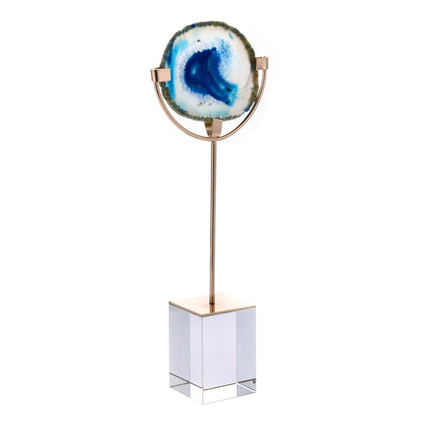Blue Agate On Stand 12.5""