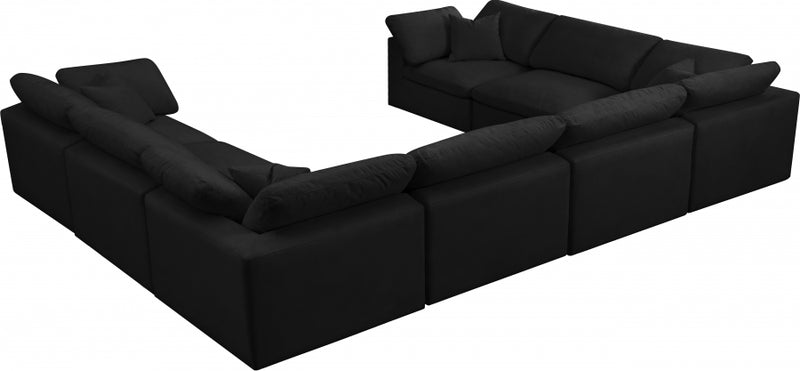 Cozy 8 Piece Velvet Modular Overstuffed Reversible Sectional