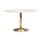 Mero 50inch Round Dining Table Marble & Gold