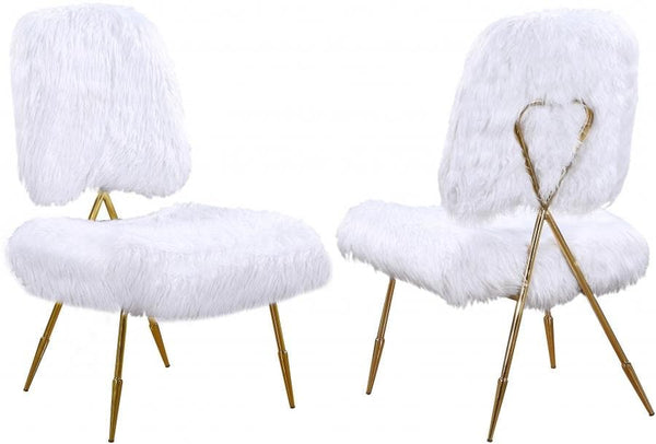 Magnolia Faux Fur Accent Chair (Set of 2)