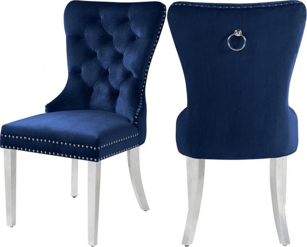 Charlotte Velvet Dining Chair - Chrome Legs (Set of 2)