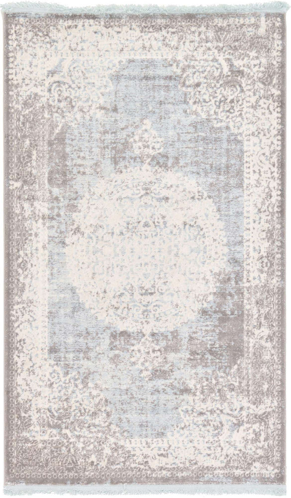 Light Blue New Classical Rectangle Rug