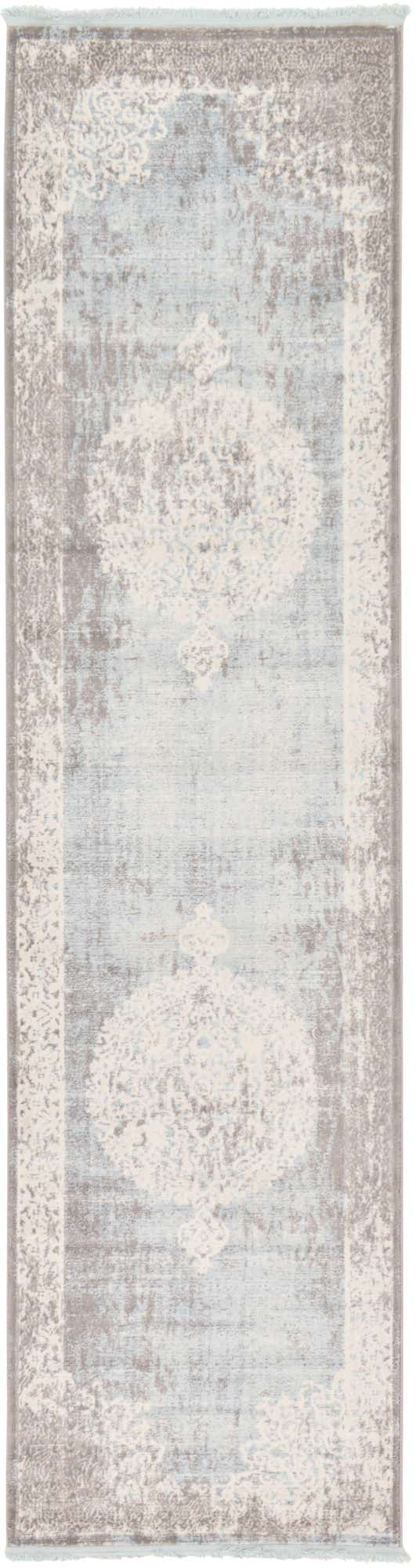 Light Blue 2' 7 x 10' New Classical Runner Rug