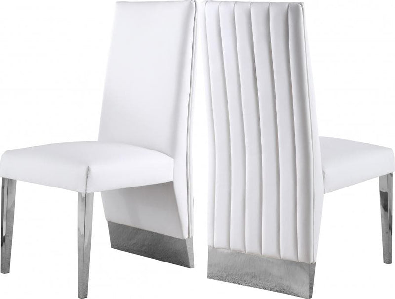 Porsha Faux Leather Dining Chair set of 2