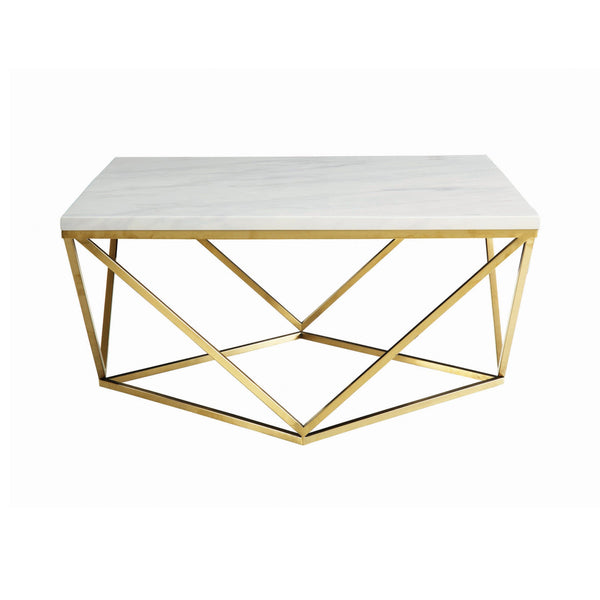 Jagan Gold Faux marble Coffee Table