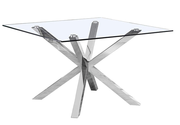 Kyle Square Glass Dining Table 48""