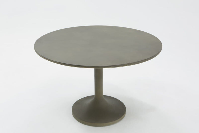 Modrest Wagner Modern Grey Concrete Round Dining Table