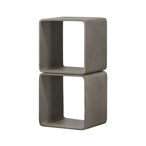 Modrest Pickens - Modern Grey Concrete Cube Shelf