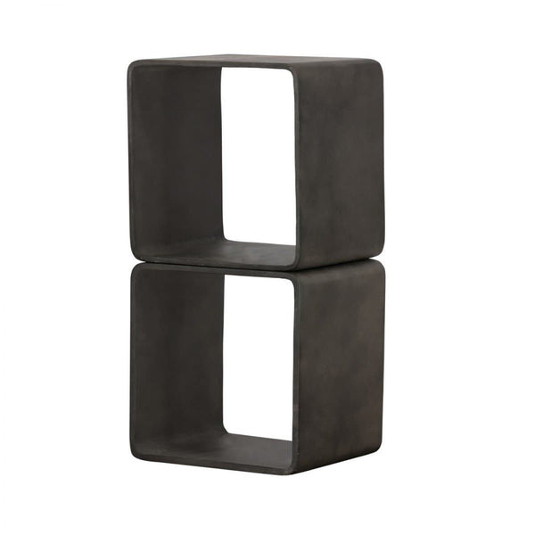Modrest Pickens - Modern Dark Grey Concrete Cube Shelf